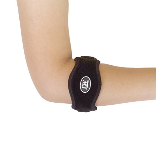 LW (Living Water) Elbow Support Strap Wrap Band - The Best Neoprene Forearm Brace with a Compression Pad - Tennis Elbow Golfer's Elbow Rowing Elbow Pain Relief (L/XL)