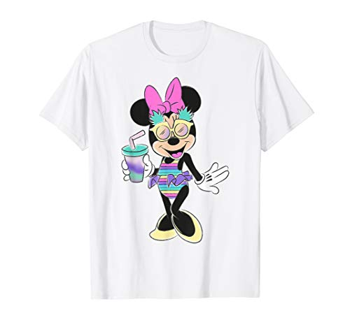 Disney Minnie Mouse Unicorn Stripes and Pineapples T-shirt