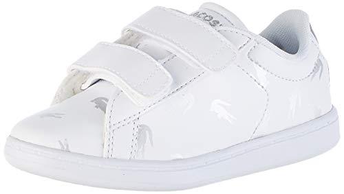 Lacoste Unisex-Kinder Carnaby Evo 419 1 Sui Sneaker, Weiß (White/Silver 108), 24 EU