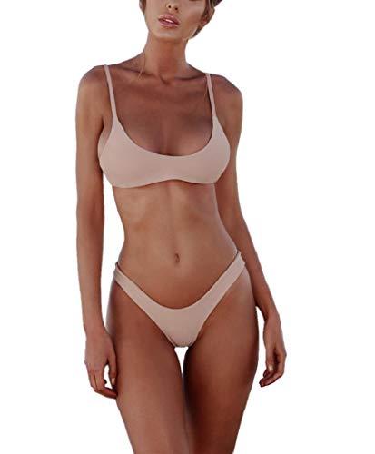 Bikini Donna,Bikini Push Up Due Pezzi Costume da Bagno, Bikini Donna Mare Swimsuit, Colore Solido Beachwear