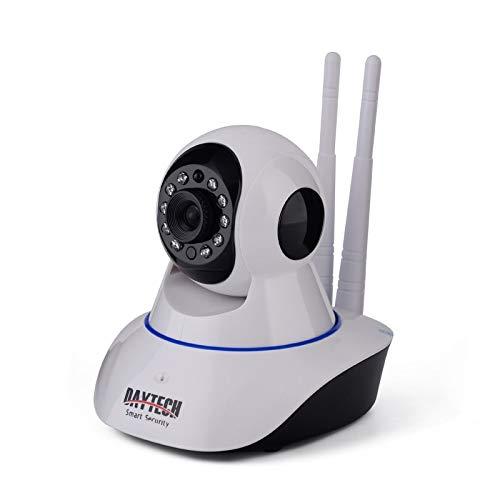 Camaras De Vigilancia Daytech WiFi Cámara IP 2Mp Cámara De Seguridad Doméstica Wi-Fi P2P De Dos Maneras Audio IR Night Vision Network Baby Monitor Wireless HD 1080P Blanco