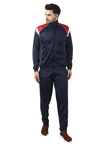 Gag Wears Men's Love Superpoly Polyester Blend Solid Track Suit