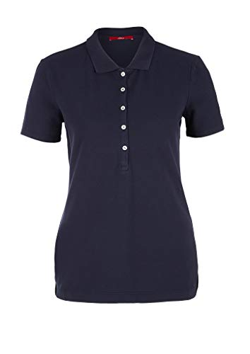 s.Oliver Damen Polo-Shirt Polohemd, Navy, 46