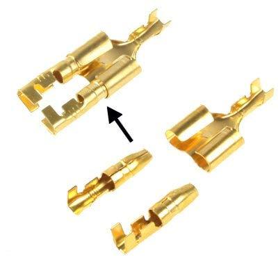 100pcs fai da te Crimp Terminal F a 2 x maschio Spade connettore, cavo dimensioni: 1-2.5mm2 (100pcs in una confezione, il prezzo è for 100pcs) Durevole