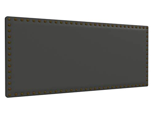 LA WEB DEL COLCHON - Cabecero tapizado Tachuelas para Cama de 150 (160 x 70 cms) Gris Ceniza | Cama Juvenil | Cama Matrimonio | Cabezal Cama |