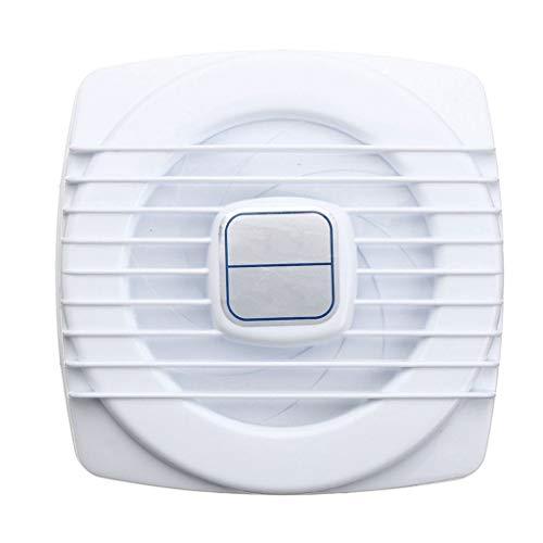 LANDUA Weißer Mini-Abluftventilator Belüftungsgebläse Fensterwand Küche Badezimmer WC-Ventilator Lochgröße 105 * 105 mm 4 Zoll 12 W 220 V US-Stecker