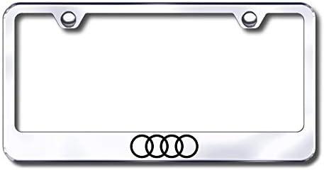 New Over item handling ☆ Stainless Steel Sacramento Mall Audi Logo Only Plate Bolt W License Frame Ca