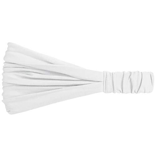 Hutshopping Haarband für Frauen - sportliches Bandana Kopftuch in Einheitsgröße (52-60 cm) - Stirnband Frühjahr Sommer weiß