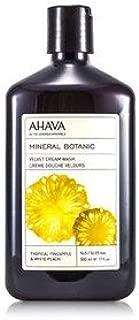 AHAVA(アハバ) ミネラル ボタニック ベルベット クリーム ウォッシュ #Tropical Pineapple&White Peach 500ml/17oz [並行輸入品]