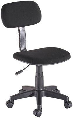 Silla de oficina o escritorio tapizada en tela transpirable color en negro elevable en altura y