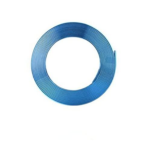 ホイール テープ ライン 車 ホイールタイヤケア ホイールリムガード ライン タイヤ ホイール ガード キズ防止 キズ隠しホイール保護 ホイールステッカー リムラインモール ゴム製品 8m 粘着テープで ホイール保護(ブルー)