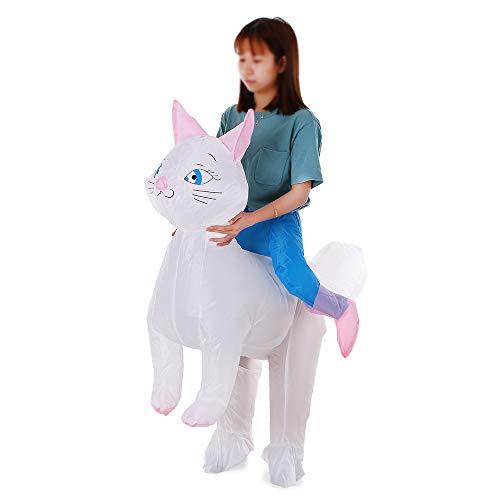homese Katze Aufblasbare Kostüm Requisiten Sprengen Aufblasbare Kostüm für Halloween Cosplay Party Bühne Leistung für Kinder Kinder Baby
