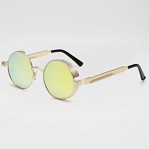 Sunglasses Mode Runde Steampunk Sonnenbrille Brand Design Frauen Männer Vintage Steam Punk Sonnenbrille Uv400 Shades 08