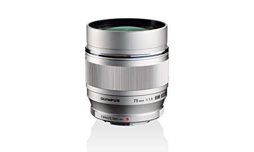 Objetivo Olympus M.Zuiko Digital ED 75mm F1.8, longitud focal fija rápida, apto para todas las cámaras MFT (modelos Olympus OM-D & PEN, serie G de Panasonic G), negro