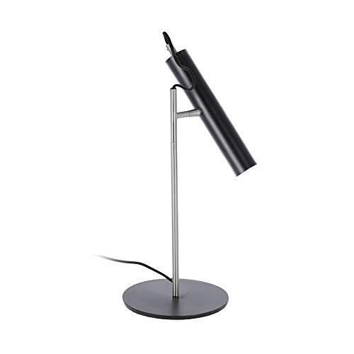 Kave Home - Lámpara de sobremesa Maude negra de acero