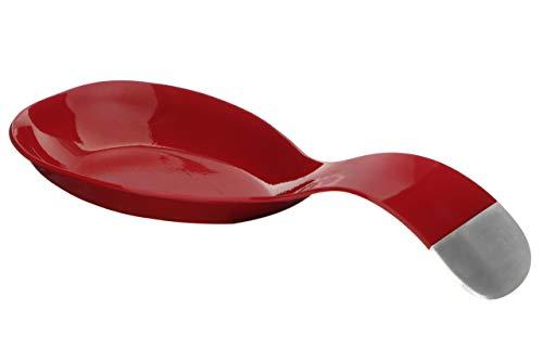 Premier Housewares Cucchiaio Riposo Rosso, Acciaio Inossidabile, H4 x W18 x D20cm