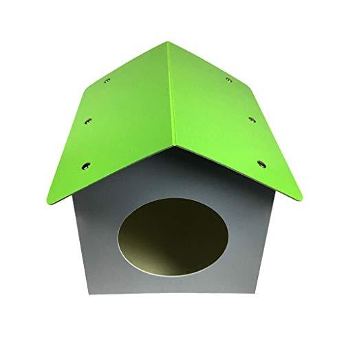 Hundehütte aus Kunststoff für den Außenbereich, isoliert, wetterfest, Hundehütte mit Tür, Katzenhaus S