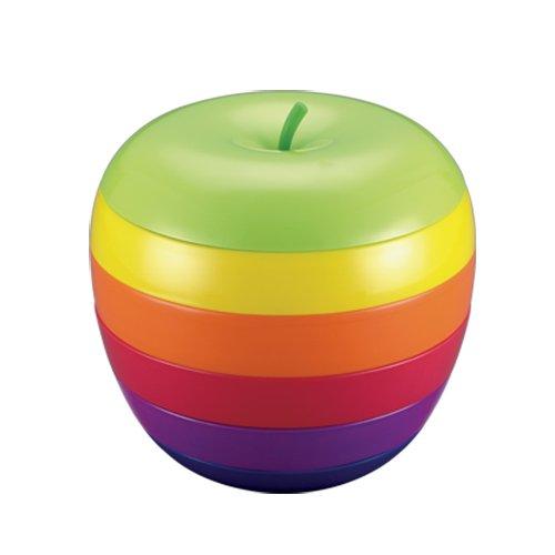 GeekGoodies Melamine Multi - Stage Storage Organizer Food Snacks Apple Plates
