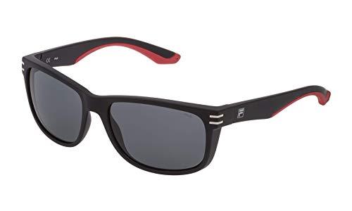 Fila sonnenbrillen SF9251 U28P brille Herren Schwarz-linse rauch größe 58 mm