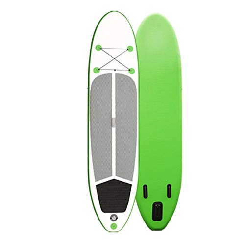 Tabla De Paddle Surf Hinchable,Unisex Tabla SUP Paddleboard Kit,Stand Up Paddle Board,15 CM De Espesor,Kayak,Almohadilla Integrada,Accesorios Completos,320 * 76 * 15Cm,Verde