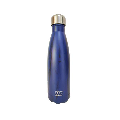 17oz Stainless Steel Vacuum Insulated Water Bottle | Leak-Proof Double Walled Cola Shape Bottle | Keeps Drinks Cold for 24 Hours & Hot for 10 Hours (Pattern: Deep Sea, 17oz)