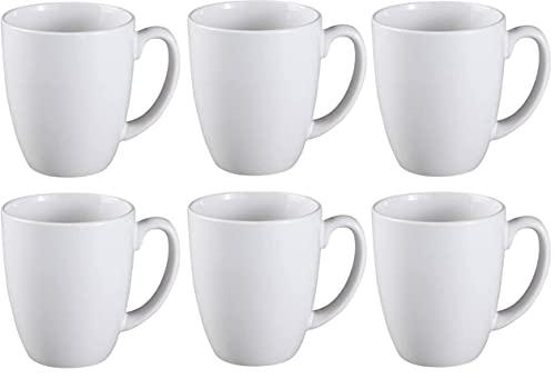 Corelle 6022022 Stoneware Winter Frost White Mug, 11 Oz, White (Pack of 6)