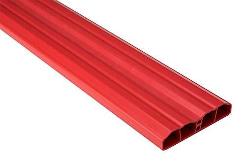 Zaunlatten Sparpaket PZL-18 | widerstandsfähiges Hart-PVC | Kunststoffzaun | Balkonbretter | pflegeleicht | Himbeere bunt | 80 x 16 mm | Hexim | 30 Meter