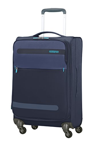 American Tourister 80434/1596 Herolite Lifestyle Spinner Bagaglio A Mano, 55 cm, 42 litri, Navy