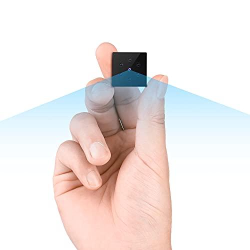 小型カメラ, Full HD 超小型スパイ隠しカメラ 長時間録画 録音監視カメラ 電池式屋外 屋内用ミニ防犯カメラ 電池式配線不要室内盗撮カメラ 赤外線暗視動体検知超小型防犯カメラ