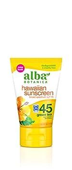 Alba Botanica Sunscreen Lotion SPF 45 Green Tea 4 Oz