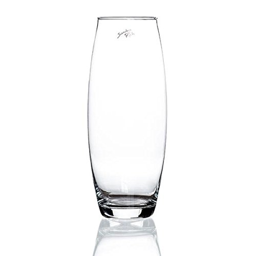 Sandra Rich Glasvase, Dekoglas Amaryllis H 19cm D 8cm, transparent klar oval