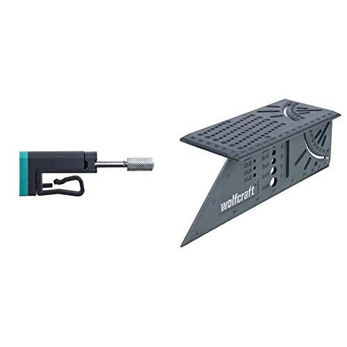 Wolfcraft 3037000 KS 24 aplacacantos para Borde, Producto Adicional para Todas Las Abrazaderas monomanuales + 5208000- Escuadra (Regla) 3D