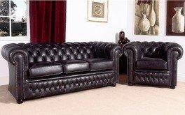 Sofas4u Chesterfield Stamford - Muebles de piel Chesterfield Suites fabricado en el Reino Unido