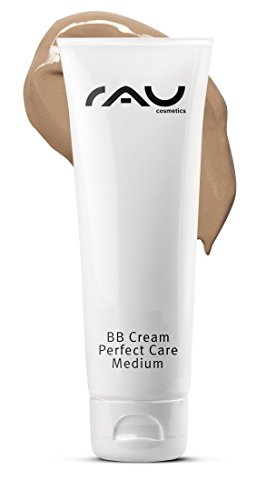 RAU Cosmetics BB Cream Perfect Care Medium für trockene, unreine, normale Haut 75 ml - Make-Up, Pflege, UV-Schutz - Getönte Tagescreme mit Zink, Vitamin E, Mandelöl, Panthenol & Traubenkernöl