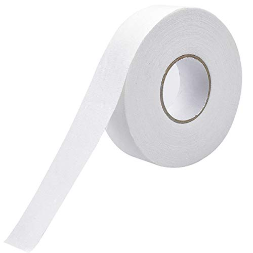 Schläger Tape, 25 Meters Verschleißfest Klebe Hockeyschläger Tape, Anti-Rutsch Schlägertape Eishockey Griffband (Weiß)
