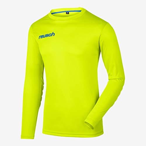 Reusch Soccer Match Prime Padded Long Sleeve Goalkeeper Jersey, Yellow/Black, Adult X-Large