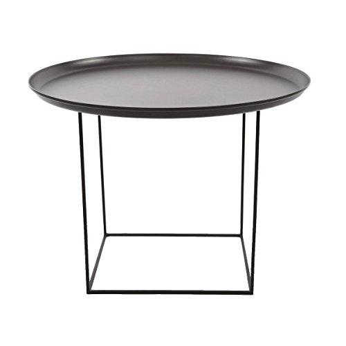 NORR 11 Duke Medium Beistelltisch Ø 70cm, schwarz Tischplatte abnehmbar H: 39cm