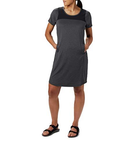 Vestido feminino Columbia Place to Place II, com absorção de umidade, proteção solar, Preto, Large