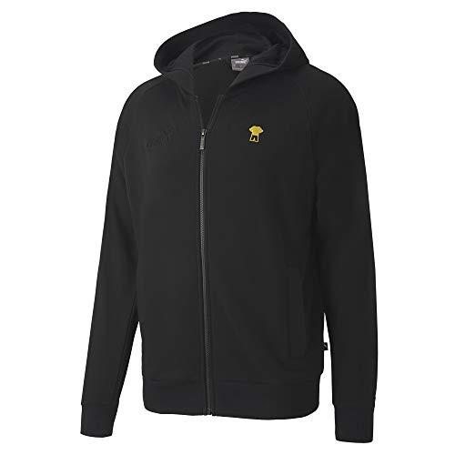 PUMA Herren BVB FtblFeat Game Hooded JKT Pullover, Black, L
