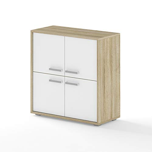 BIM Furniture Dynamic24 Aurora VI - Cómoda (78 x 35 x 80 cm), color blanco