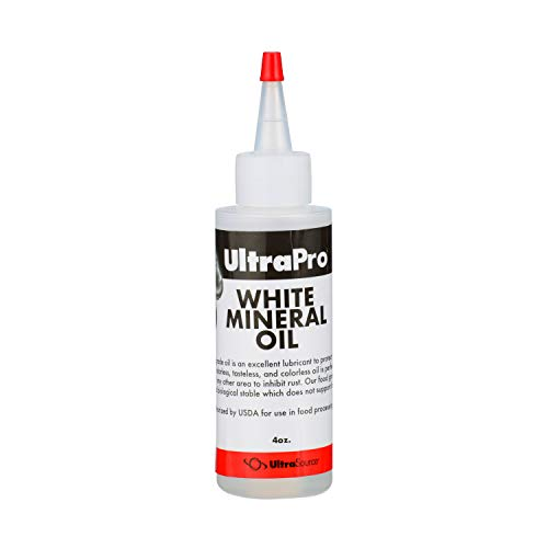 UltraPro Food Grade Mineral Oil Dropper 4 oz for Lubricating and Protecting Stainless Steel, Cutting Board, Butcher Block, Meat Grinder, Slicer, Tool, Machine and Equipment, NSF Approved