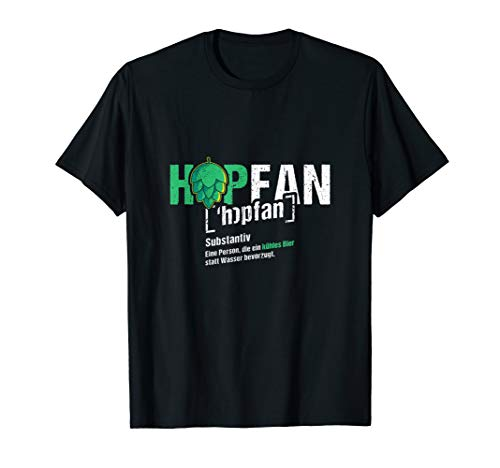 HOPFAN | Lustiges Bier Bierliebhaber Biertrinker Craft Beer T-Shirt