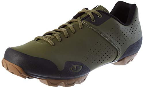 Giro Privateer Lace Mens Mountain Cycling Shoe − 45, Olive/Gum (2020)