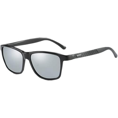 Coloseaya Gafas de sol polarizadas UV400 para ciclismo, ciclismo, deportes al aire libre, golf, color plateado