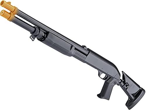 Evike Airsoft - CYMA Standard Metal M3 3-Round Burst Multi-Shot Shell Loading Airsoft Shotgun (Model: Full Stock CQB)
