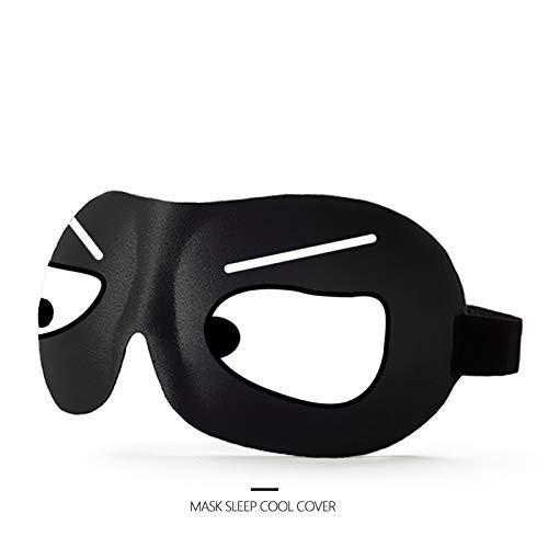 Máscara De Ojos Estéreo 3D, Máscara De Ojos para Dormir, Conjunto De Tapones para Los Oídos De Dibujos Animados Divertidos, Diseño De Piel Ligera Y Suave,1