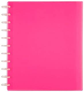 TUL Custom Note-Taking System Discbound Student Notebook, Letter Size, 3-Subject, Pink