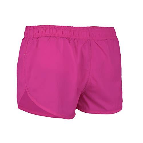 VBRANDED Men's Side Split Running Shorts with Mesh Linen X-Large Neon Fuchsia