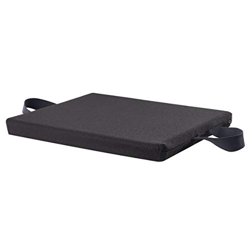 Sammons Preston Gel Right Plus Foam, 20″ x 18″ x 1-3/4″ Checkerboard, Wheelchair Cushion for Reducing Pain and Increasing Comfort, Wheelchair Seat Cushion, Orthopedic Pad, T-Gel Polymer & Fabric Cover