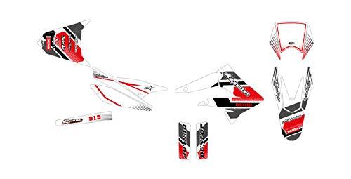 Kit de decoración para motocross Derbi Senda R X-Treme 50 Comics color blanco 2010-2013